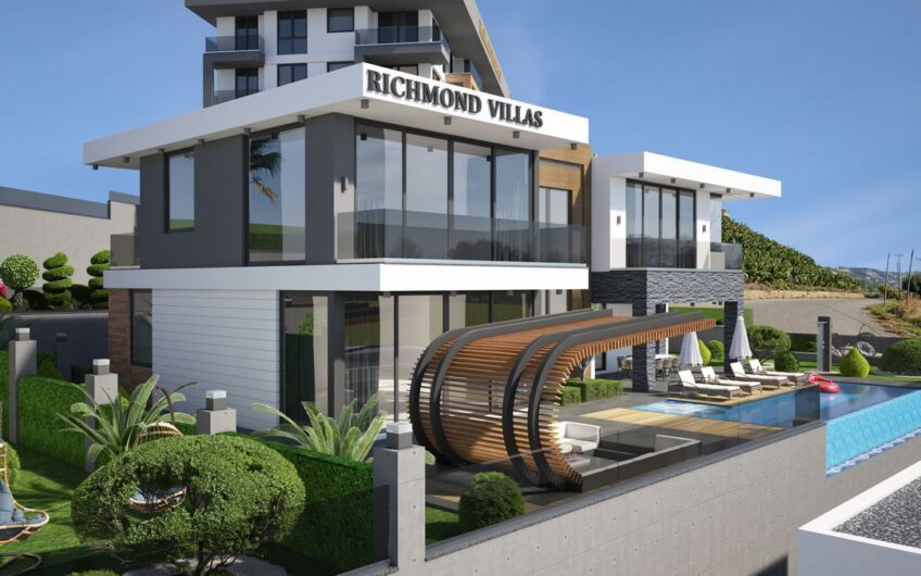 ultra luxury private villa project for sale in  Alanya/Kargicak