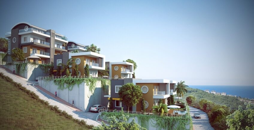 KIWI Sunset villa is a new residential complex located in Kargicak Alanya.