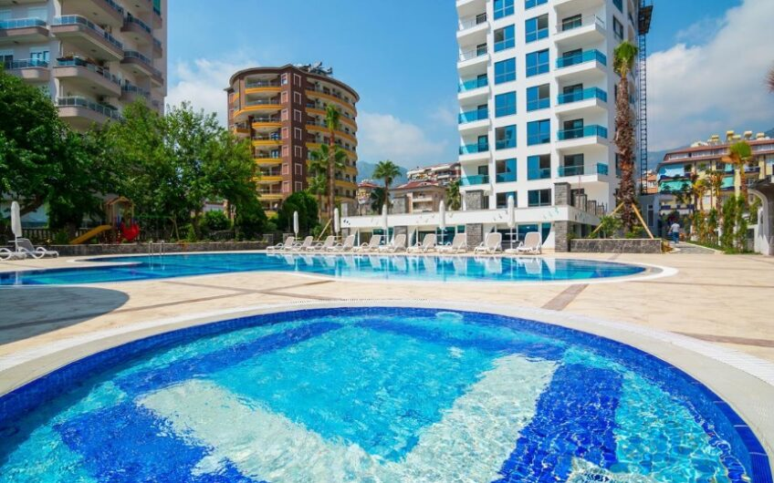 FULLY FURNISHED FOR SALE 1+1/2+1 APARTMENT IN ALANYA