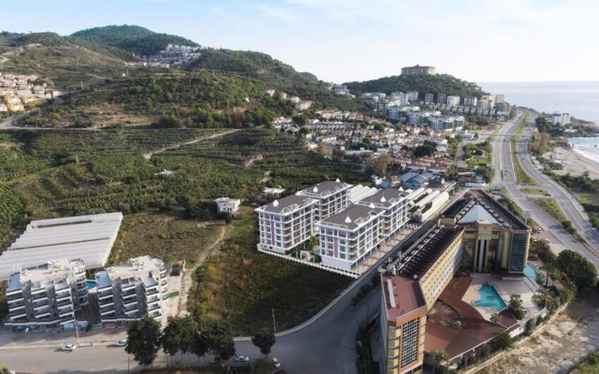 FOR SALE IN NEW PROJECT APARTMENTS, 1+1  ALANYA/KARĞİCAK