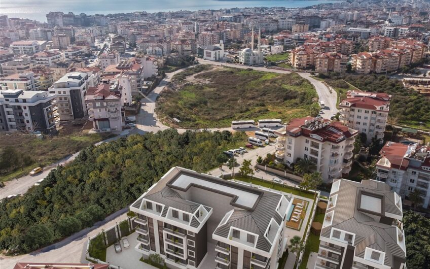 1 + 1  2+1 3+1 apartments for sale in the project in Alanya/Oba
