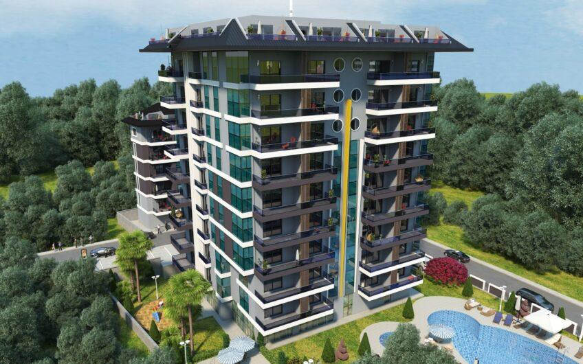New Building Family Garden For Sale İn Alanya/Mahmutlar
