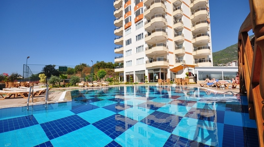 Fully furnished flat for sale in alanya/cikcilli
