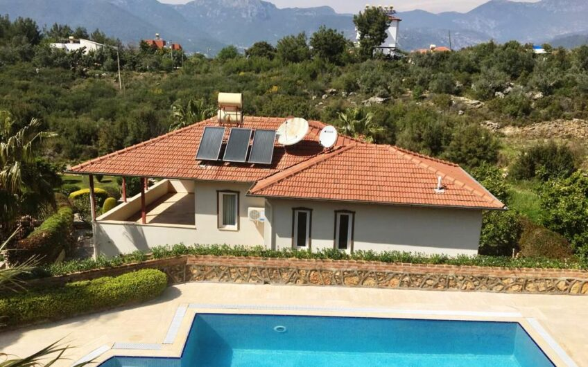 Fully furnished luxury villa for sale in alanya/oba