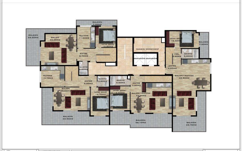 New luxury flats for sale in Alanya/Mahmutlar