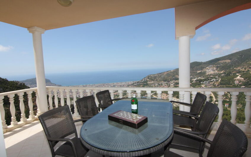 wonderful panorama for sale fully furnished 4 + 1 residence apartment in alanya/tepe