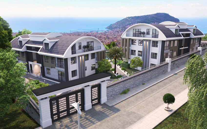 Panoramic view from all apartments, Tepe / Alanya