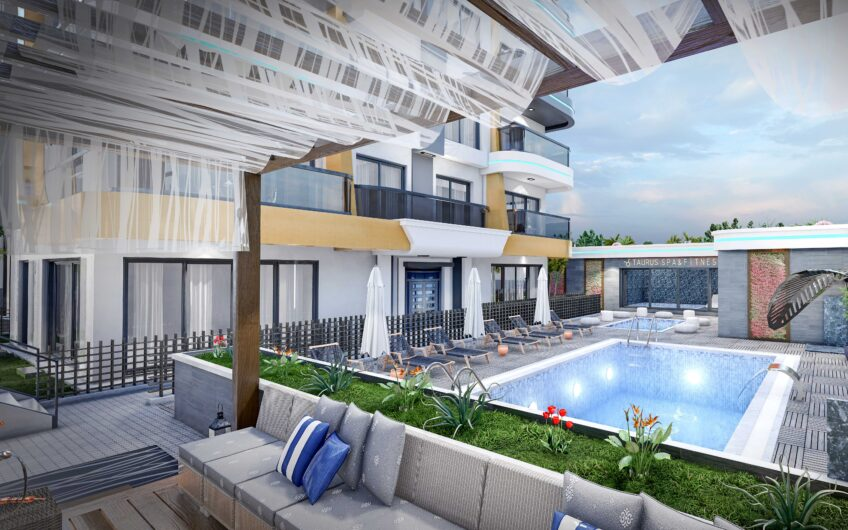 New investment project in Kestel 150 m to the beach